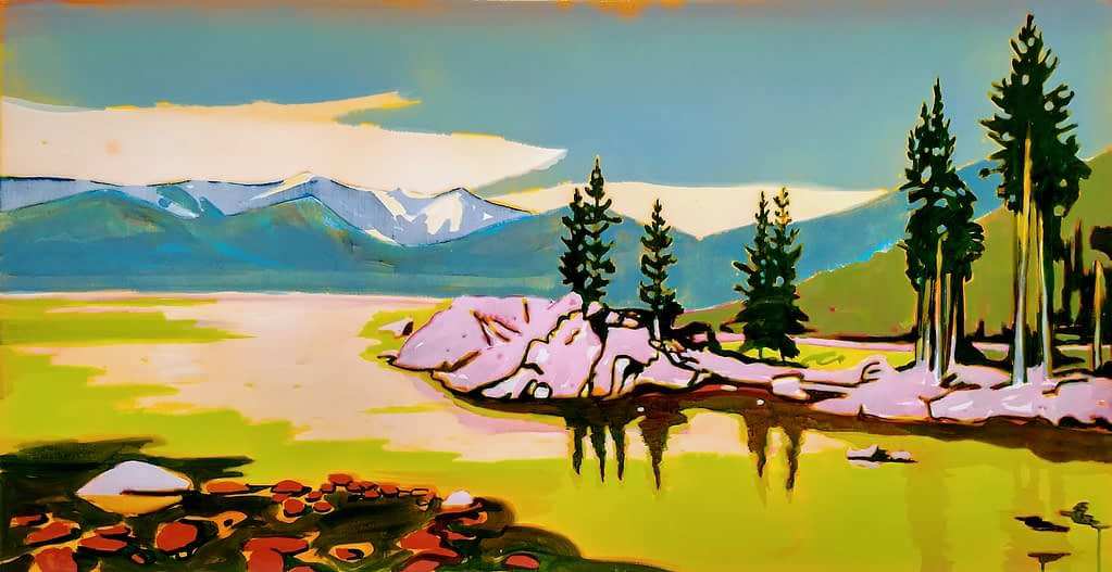 Lake Tahoe, 70x140, epoxy_HDR